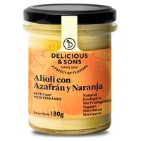 Organiczne alioli szafranowo-pomarańczowe