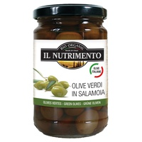 Pitted Italian Green Olives in Brine