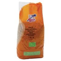 Organischer polierter runder halber ganzer Reis