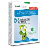 Arkocápsulas Complex Espino Albar y Grifonia - Relaxation et équilibre nerveux