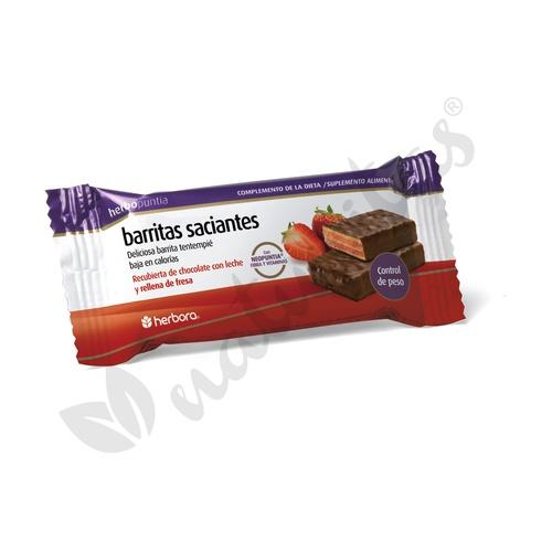 Barrita de Chocolate con Fresa Herbopuntia 1 barrita de Herbora