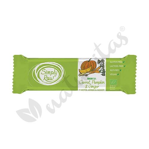 Barrita Zanahoria, Calabaza y Jengibre - Simply Raw- 1 Barrita de 40 grs de Vitafood Raw