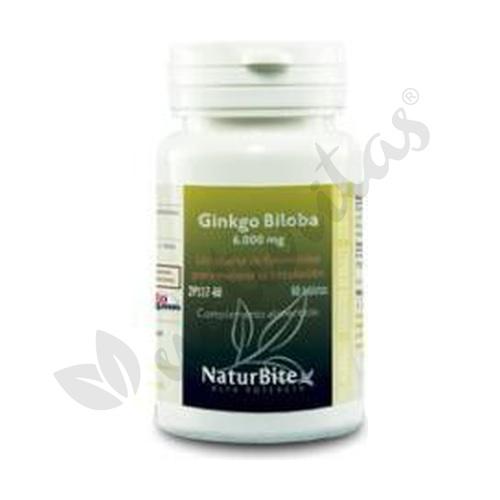 Ginkgo Biloba 60 comprimidos de 6000 mg de Naturbite
