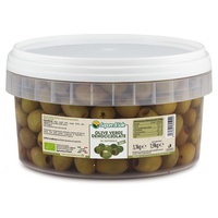 Natural Pitted Green Olives