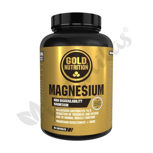 Magnesium 60 cápsulas de 600 mg de Gold Nutrition