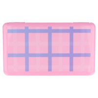 Rectangular Pink Mask Storage Box