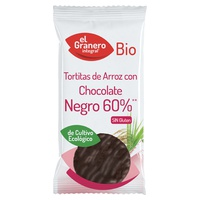 Tortitas de arroz con chocolate negro 60%