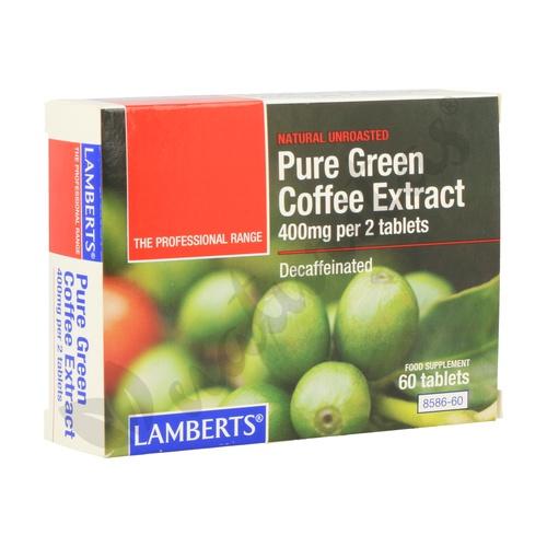 Extracto de Café Verde Puro 60 tabletas de Lamberts