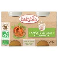 Petits Pots Potimarron/Carotte Bio (dès 4 mois)