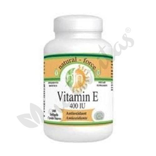 Vitamina E  100 perlas de 400 UI de Nutri-Force