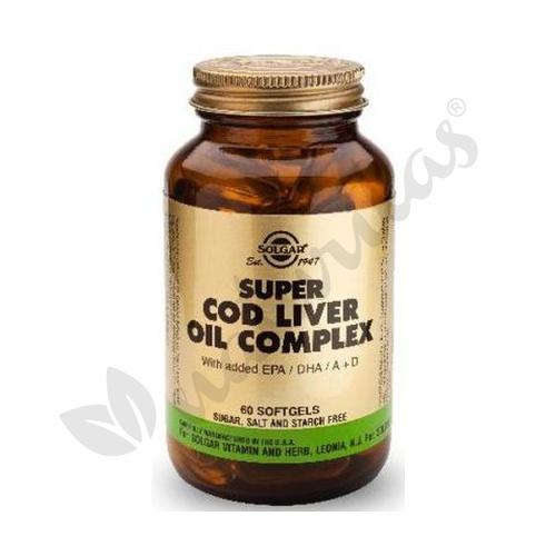 Super Cod Liver Oil Complex 60 cápsulas de Solgar