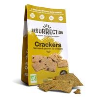 Crackers bio aux drêches de brasserie Sarrasin et Courges