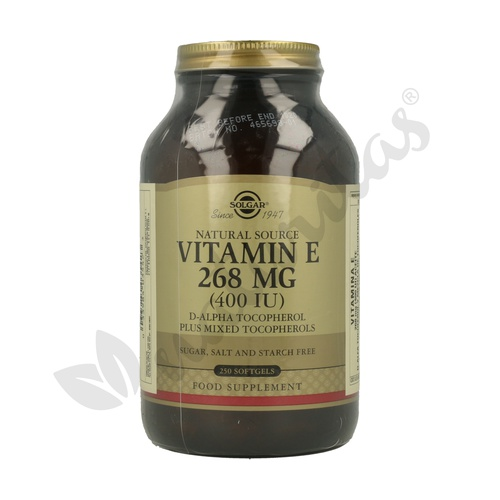 Vitamina E 250 cápsulas 268 mg de Solgar