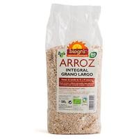 Riz brun biologique à grains longs