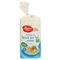 Tortitas de arroz sin sal añadida