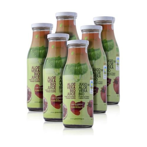 Pack x6 Zumo de Aloe Vera Bio con Granada