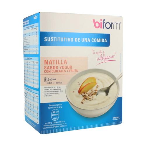 Natillas Yogur Cereales Fruta