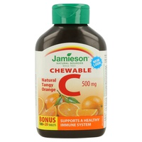 Vitamina C Masticable (Sabor Naranja)