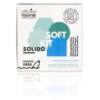 Linea CO.SO Cosmetici Solidi- Champú nutritivo sólido, acondicionador nutritivo, espuma aterciopelada y limpieza facial
