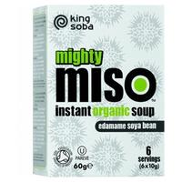Sopa de Miso y Semillas de Edamame Sin Gluten