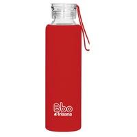 Czerwona silikonowa butelka BBO 550 ml
