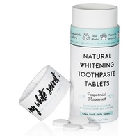 Natural whitening toothpaste in tablets