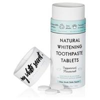 Pasta de dientes blanqueadora natural en comprimidos