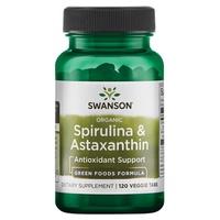 Spirulina & Astaxanthin, Organic Veggie Tabs