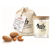 Large natural almond scented candle 40 h