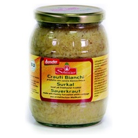 Ready sauerkraut in glass