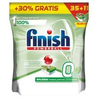 Finish 0% Pastiglie per lavastoviglie 35 + 11