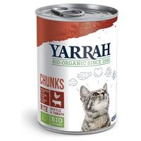 Pokarmy organiczne z kurczakiem i wołowiną dla kotów