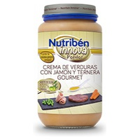 Potito Innova Crema de Verduras con Jamón y Ternera Gourmet 6m+