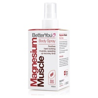 Magnesium muscle body spray